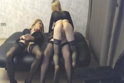 dirty fuckfest By Three sheboys In stockings